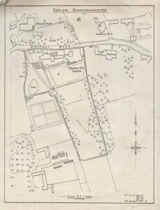1964 plan of the Taplow Hill House site